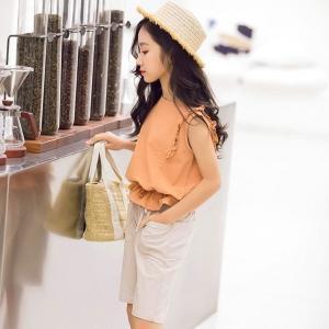韓国子供服ベストシャツ半ズボン2点セット女の子夏服子供用韓国風通園通学お出かけ110120130140150160cm|globalstyleclub