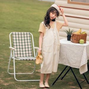 韓国子供服女の子Tシャツデニムオーバーオール2点セット上下セットストライプ柄夏着半袖子供服110120130140150160cm|globalstyleclub