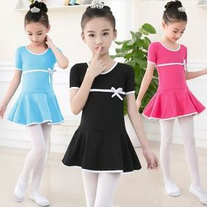 高品質の綿長袖レオタードダンスバレエ子供女の子体操バレエダンスドレスで弓子供ダンスウェア|globalstyleclub