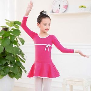 女の子バレエドレス長袖バレエ子供女の子ダンス体操レオタードドレスで弓子供女の子ダンスウェア|globalstyleclub
