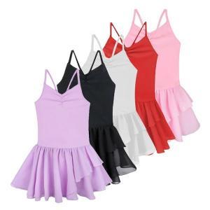 5色ノースリーブ子供子供女の子スパゲッティストラップバレエダンスレオタードチュチュドレス用女の子バレエクラスダンスウェア服|globalstyleclub