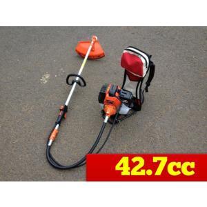 背負い式草刈り機 BG415 小型 軽量 エンジン式背負草刈機 42.7cc|globatt-ej