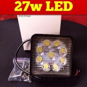12v24v兼用 【LED作業灯27W】建設機械重機 作業灯 ワークライト|globatt-ej