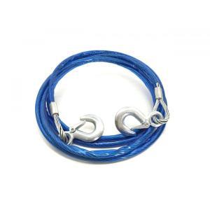 牽引ロープ 4m3トン 白旗 簡易収納袋付き けん引 フック式 ワイヤータイプ|globatt-ej