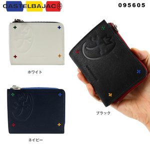 【カラー】ブラック、ネイビー、ホワイト 【サイズ】W11.5・H9・D2.5cm 【素材】本体/牛革...