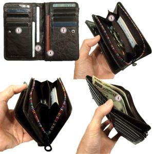 ソラチナ サイフ メンズ人気財布 馬革にアンティークな焦げ加工SW-38151 SOLATINA クーポン利用で5%OFF|gloopy|03