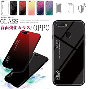 OPPO Reno 10X Zoom AX7ケース R17 Neo ケース 9H強化ガラス 背面 カ...