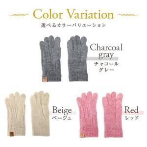手袋 レディース スマホ対応 日本製 カシミア調|glovesfactory|03