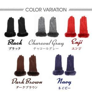 手袋 レディース スマホ対応手袋 吸湿発熱 きれいめ ジャージー グローブ|glovesfactory|04