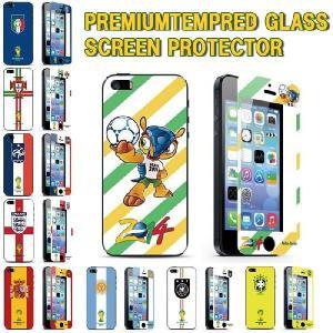 iPhone 5 5S 5C 2014ワールドカップ  強化ガラス フィルム 保護フィルム 国旗 硬度9H 極薄 0.3mm ゆうパケット送料無料|glow-japan
