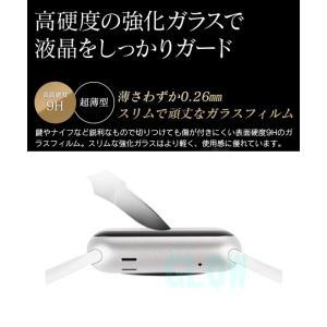 Apple watch 38mm 42mm アップルウォッチ用強化ガラス保護フィルム For apple watch 保護シート 薄い ゆうパケット送料無料|glow-japan|02
