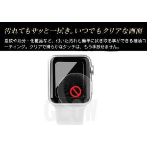 Apple watch 38mm 42mm アップルウォッチ用強化ガラス保護フィルム For apple watch 保護シート 薄い ゆうパケット送料無料|glow-japan|03
