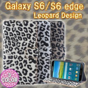 SAMSUNG(サムスン) docomo Galaxy S6 3点セット SC-05G/S6edge SC-04G/au S6edge SCV31ヒョウ柄 レオパード柄PUレザーケース 手帳型 ゆうパケット送料無料|glow-japan