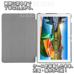 ASUS ZenPad 10(Z300C/Z300CL) 3点セット【保護フィルム&タッチペン】 3つ折り ケース エイスース  ゼンパッド スタンドカバー ゆうパケット送料無料|glow-japan|05