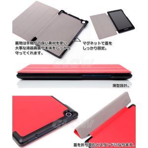 Lenovo Tab2 / Tab3  3点セット【タッチペン+液晶フィルム】 3つ折り 手帳型 横開き タブレット ケース カバー   ゆうパケット送料無料|glow-japan|06