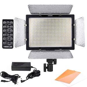 Yongnuo 600 LEDビデオライト 600球のLEDを搭載 カメラ&ビデオカメラ用 AC電源...