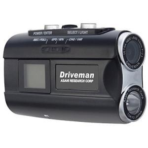 アサヒリサーチ Driveman(ドライブマン) バイク用ヘルメット装着型ドライブレコーダー ブラッ...