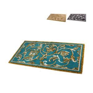 アビス&ハビデコール Abyss&Habidecor 玄関マット ラグマット 約70x145cm Dynasty ダイナスティ 高級 上質 ラメ糸 ゴールド 華やか|glv