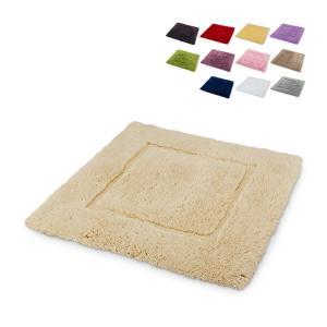 アビス&ハビデコール Abyss&Habidecor バスマット トイレマット 綿100% 約60x60cm MUST マスト 洗える 高級 シンプル ラグマット|glv