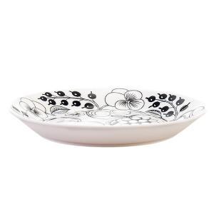 Arabia アラビアブラックパラティッシ64 1180006671-6 フラットプレート(皿) 21cm|glv|02