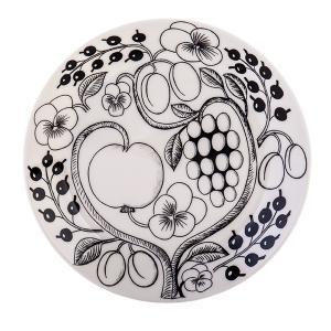 Arabia アラビアブラックパラティッシ64 1180006671-6 フラットプレート(皿) 21cm|glv|04
