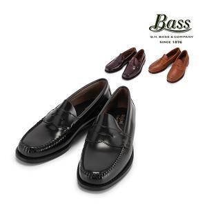 バス G.H.BASS G.H. ペニーローファー ローガンPenny Loafer LOGAN ブラック バーガンティ タン ローファー 革靴|glv