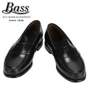 バス G.H.BASS G.H.ペニーローファー ローガン Penny Loafer LOGAN Black ブラック EEEワイド ローファー 革靴|glv