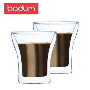Bodum ボダム アッサム ダブルウォールグラス 2個セット 0.2L Assam DWG 4555-10US Double Wall Tumbler set of 2 クリア 北欧|glv