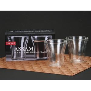Bodum ボダム アッサム ダブルウォールグラス 2個セット 0.2L Assam DWG 4555-10US Double Wall Tumbler set of 2 クリア 北欧 glv 07