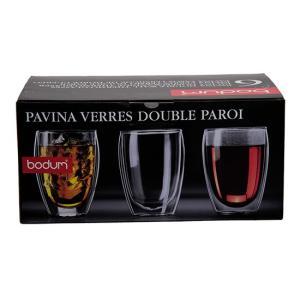 ボダム グラス ダブルウォールグラス パヴィーナ 6個セット 350mL タンブラー 保温 4559-10-12US bodum ビール glv 05