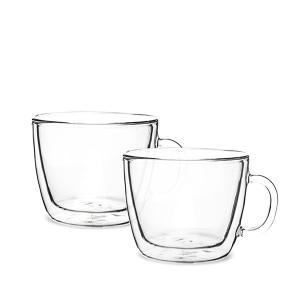 ボダム Bodum グラス 2個セット 450mL ビストロ ダブルウォールグラス 10608-10 クリア 食器 キッチン 保温|glv