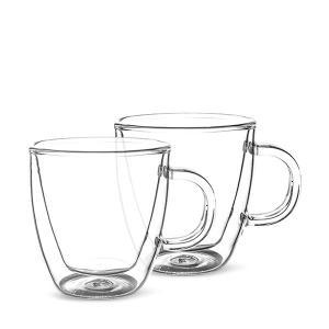 ボダム BODUM ビストロ ダブルウォールグラス 2個セット 150mL 保温 エスプレッソ マグ 10602-10US クリア BISTRO DWG プレゼント|glv