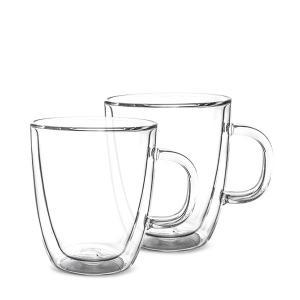 ボダム BODUM ビストロ ダブルウォールグラス 2個セット 300mL 保温 エスプレッソ マグ 10604-10US4 クリア BISTRO DWG プレゼント|glv