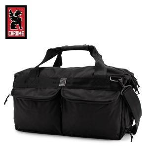 クローム Chrome ボストンバッグ Surveyor サーベイヤー 44L ダッフルバッグ オールブラック All Black BG-238 トラベル バッグ 旅行 通勤 通学|glv