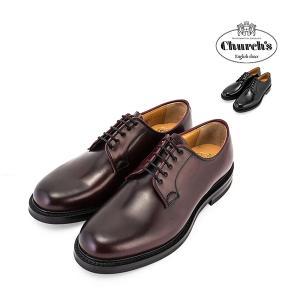 チャーチ Church's Shannon R シャノン ポリッシュド バインダー ダイナイト ブラック ( G / F ) プレーントゥ メンズ 革靴 EEC004 Dainite Polished Binder|glv