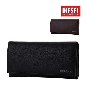 ディーゼル Diesel 財布 長財布 24 A DAY メンズ レザー 革 本革 X03928 PR271 ブラック ブラウン Wallet レディース 二つ折り 長札|glv