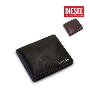 ディーゼル Diesel 財布 メンズ 二つ折り財布 レザー 小銭入れ 本革 HIRESH S X03925 PR271 ウォレット サイフ 人気 プレゼント 誕生日|glv