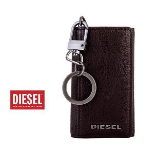 ディーゼル Diesel キーケース キーホルダー KEYCASE O X03922 PR271 ダークブラウン Key case Dark Brown / T2189 メンズ レディース|glv
