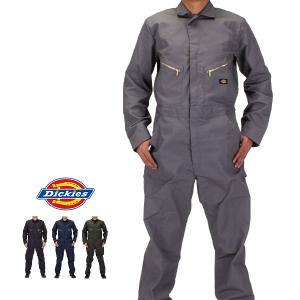 ディッキーズ Dickies デラックスカバーオール 48799 つなぎ 長袖 メンズ 作業着 大きいサイズ Long Sleeve Deluxe Blended Coverall MENS