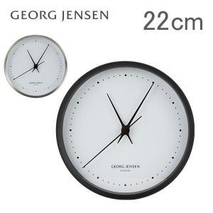 ジョージ・ジェンセン ウォールクロック 22cm ヘニング コッペル ステンレス 358757 HENNING KOPPEL WALL CLOCK 掛け時計 壁掛け 北欧|glv