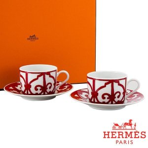 Hermes エルメス ガダルキヴィール Tea cup and saucer ティーカップ&ソーサー 160ml 011016P 2個セット 新生活