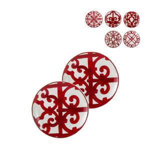 エルメス Hermes ブレッド&バタープレート Balcon du Guadalquivir Bread and Butter plate 皿 17cm 2個セット|glv