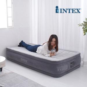 【正規販売店】 エアーベッド インテックス Intex 電動 シングル ツインコンフォートプラッシュ...