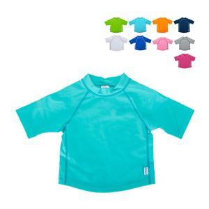アイプレイ Iplay ラッシュガード 半袖 UVカット 無地 ベビー キッズ 770100 Short Sleeve Rashguard Shirt 紫外線対策 水着 子供 プール|glv
