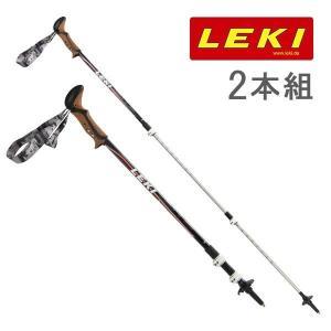 レキ トレッキングポール 2本組 コルクライト 登山 アウトドア スポーツ ブラック 636-2153 LEKI
