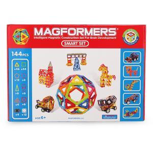 【お盆もあすつく】マグフォーマー Magformers 144 ピース Smart Set スマートセット おもちゃ 玩具 知育玩具 キッズ 63082 空間認識 展開図|glv|06