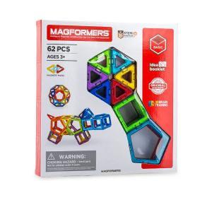 【お盆もあすつく】マグフォーマー Magformers 62ピース おもちゃ 玩具 知育玩具 キッズ 空間認識 展開図 glv 06
