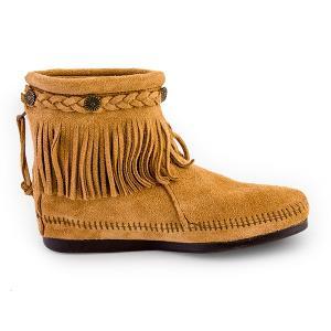 【赤字売切り価格】ミネトンカ Minnetonka ハイトップ バックジップ ブーツ スエード フリンジ Hi Top Back Zip Boot モカシン ショートブーツ レディース|glv|07