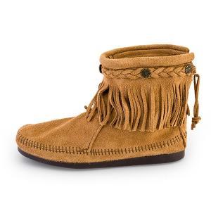【赤字売切り価格】ミネトンカ Minnetonka ハイトップ バックジップ ブーツ スエード フリンジ Hi Top Back Zip Boot モカシン ショートブーツ レディース|glv|08