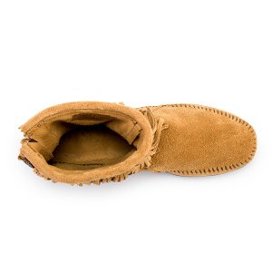 【赤字売切り価格】ミネトンカ Minnetonka ハイトップ バックジップ ブーツ スエード フリンジ Hi Top Back Zip Boot モカシン ショートブーツ レディース|glv|09